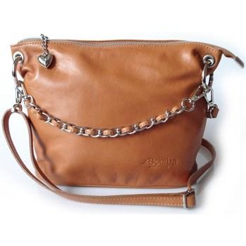 Taschen Damen Umhängetaschen Vera Pelle LB44C Honigfarbig