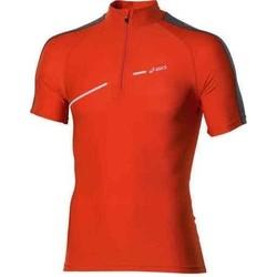 Kleidung Damen T-Shirts Asics 1/2 ZIP TOP FW12 421016-0540 orange