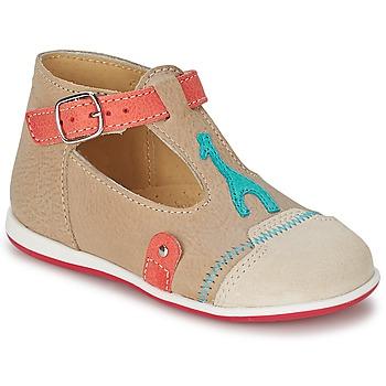 Schuhe Kinder Sandalen / Sandaletten Citrouille et Compagnie GALENE Beige / Maulwurf