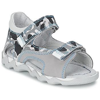 Schuhe Jungen Sandalen / Sandaletten Citrouille et Compagnie MISQUINE Weiss / Army