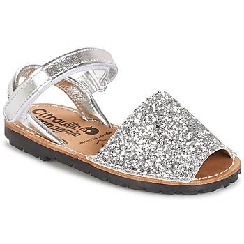 Schuhe Mädchen Sandalen / Sandaletten Citrouille et Compagnie SQUOUBEL Silbern