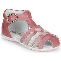 Schuhe Mädchen Sandalen / Sandaletten Citrouille et Compagnie VISOTU Rose / Multifarben