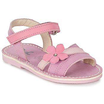 Schuhe Mädchen Sandalen / Sandaletten Citrouille et Compagnie VIZIEL Violett / Rose
