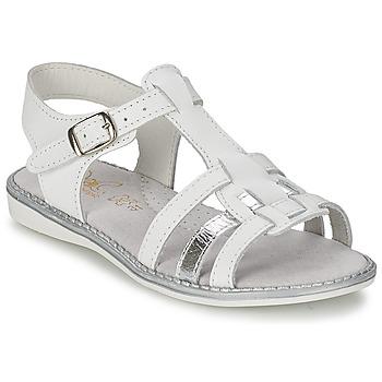 Schuhe Mädchen Sandalen / Sandaletten Citrouille et Compagnie ROLUI Weiss
