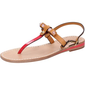 Schuhe Damen Sandalen / Sandaletten Eddy Daniele sandalen hellbraun leder rot lack ax766 rot
