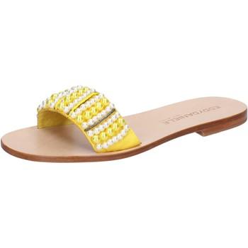 Schuhe Damen Sandalen / Sandaletten Eddy Daniele sandalen gelb textil Perlen aw452 gelb