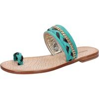 Schuhe Damen Sandalen / Sandaletten Eddy Daniele sandalen grün wildleder braun leder ax720 grün