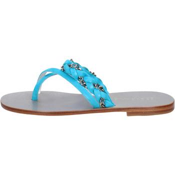 Schuhe Damen Sandalen / Sandaletten Eddy Daniele sandalen celeste wildleder aw193 blau