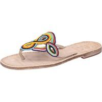 Schuhe Damen Sandalen / Sandaletten Eddy Daniele sandalen mehrfarben leder Perlen av408 mehrfarben