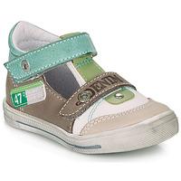Schuhe Jungen Sandalen / Sandaletten GBB PEPINO Weiss / Grün / Maulwurf