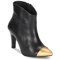 Schuhe Damen Low Boots Pastelle ARIEL Schwarz-gold