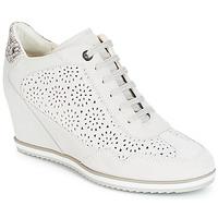 Schuhe Damen Sneaker High Geox D ILLUSION Weiss