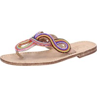 Schuhe Damen Sandalen / Sandaletten Eddy Daniele sandalen mehrfarben leder perline ax895 mehrfarben