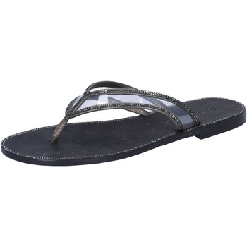 Schuhe Damen Sandalen / Sandaletten Eddy Daniele sandalen grau leder schwarz plastica swarovski aw682 grau