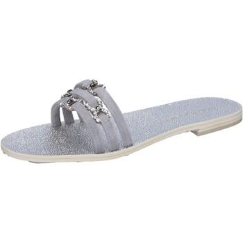Schuhe Damen Sandalen / Sandaletten Eddy Daniele sandalen grau wildleder swarovski aw236 grau