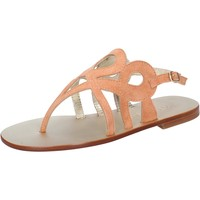 Schuhe Damen Sandalen / Sandaletten Eddy Daniele sandalen orange wildleder aw320 orange