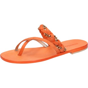 Schuhe Damen Sandalen / Sandaletten Eddy Daniele sandalen orange wildleder aw171 orange
