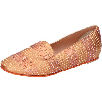Schuhe Damen Ballerinas Eddy Daniele ballerinas orange leder strass ax687 orange