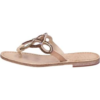 Schuhe Damen Sandalen / Sandaletten Eddy Daniele sandalen hellbraun leder Perlen AS78 braun