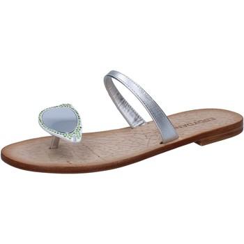 Schuhe Damen Sandalen / Sandaletten Eddy Daniele sandalen silber leder swarovski aw216 silber