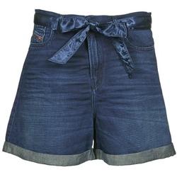 Kleidung Damen Shorts / Bermudas Diesel DE-KAWAII Blau
