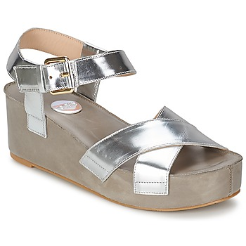 Schuhe Damen Sandalen / Sandaletten RAS NIOBE Silbern