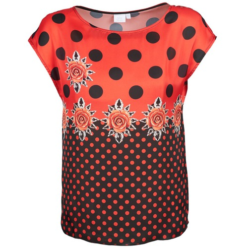 Kleidung Damen T-Shirts Alba Moda BETTINA Rot / Schwarz