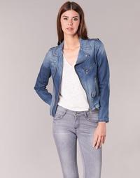 Kleidung Damen Jeansjacken Schott JANIS Blau