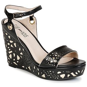 Schuhe Damen Sandalen / Sandaletten Elue par nous RIAZONE Schwarz