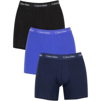 Kleidung Herren Boxershorts/Slips Calvin Klein Jeans Herren 3er-Pack aus Baumwoll-Stretch-Boxershorts, Blau blau
