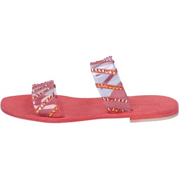 Schuhe Damen Sandalen / Sandaletten Eddy Daniele sandalen rot plastica swarovski aw463 rot