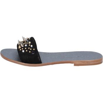 Schuhe Damen Sandalen / Sandaletten Eddy Daniele sandalen schwarz wildleder nieten ax775 schwarz