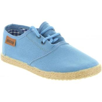 Schuhe Jungen Leinen-Pantoletten mit gefloch MTNG 47105 LANDY Azul
