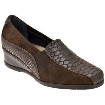 Schuhe Damen Slipper Confort Python mit Elastic mokassin halbschuhe
