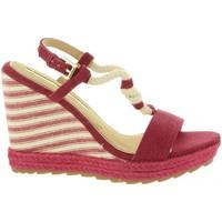 Schuhe Damen Leinen-Pantoletten mit gefloch Maria Mare 67109 Rojo