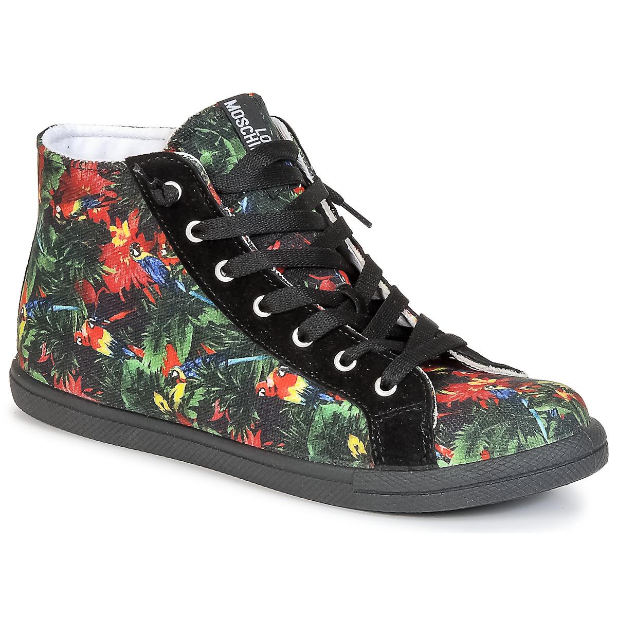 44f4abcba09d80 Love Moschino JA15132G0KJE0000 Schwarz   Multifarben - Kostenloser Versand  bei Spartoode ! - Schuhe Sneaker High Damen 78
