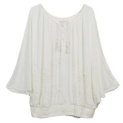 Kleidung Damen Tops / Blusen Cream DREY Naturfarben