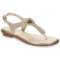 Schuhe Damen Sandalen / Sandaletten MICHAEL Michael Kors MK PLATE Goldfarben