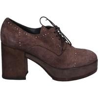 Schuhe Damen Low Boots Moma stiefeletten braun (dunkelbraun) wildleder BX07 braun