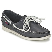 Schuhe Damen Bootsschuhe Sebago DOCKSIDES Blau