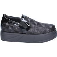 Schuhe Damen Slip on Jeannot slip on mokassins schwarz paillettes BX129 schwarz