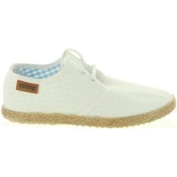 Schuhe Jungen Leinen-Pantoletten mit gefloch MTNG 47105 LANDY Blanco