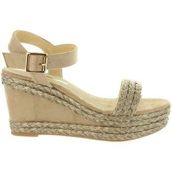 Schuhe Damen Leinen-Pantoletten mit gefloch Maria Mare 67175 Marrón