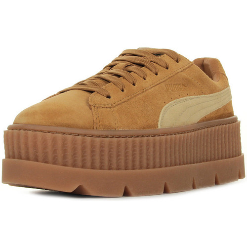 Puma Rihanna Cleated Creeper Suede Braun - Schuhe Sneaker Low Damen 109,99
