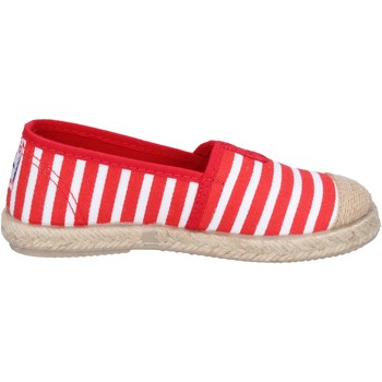 Schuhe Jungen Leinen-Pantoletten mit gefloch Cienta espadrilles rot textil weiß duftende BX287 rot