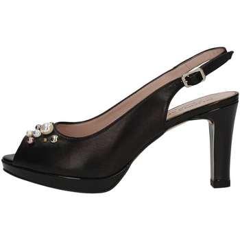 Schuhe Damen Sandalen / Sandaletten Donna Soft 7303 Sandale Frau Schwarz Schwarz