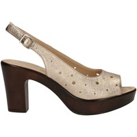Schuhe Damen Sandalen / Sandaletten Donna Soft 7372 Sandale Frau Platin Platin