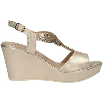 Schuhe Damen Sandalen / Sandaletten Donna Soft 7388 Plateausohle Frau Platin Platin
