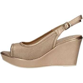 Schuhe Damen Sandalen / Sandaletten Donna Soft 7393 Plateausohle Frau Platin Platin