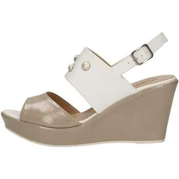 Schuhe Damen Sandalen / Sandaletten Donna Soft 7385 Plateausohle Frau Weiss Weiss
